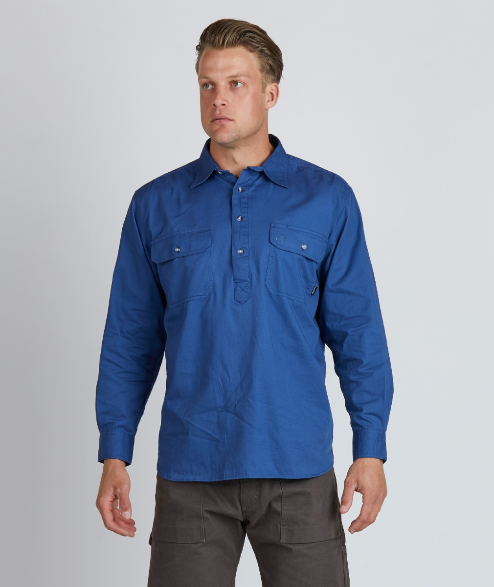 Swanndri Men's Bendigo Long Sleeve 100% Cotton Work Shirt