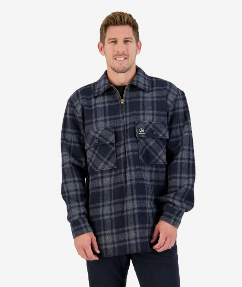 Swanndri Ranger Bush Shirt in Charcoal Grid Check