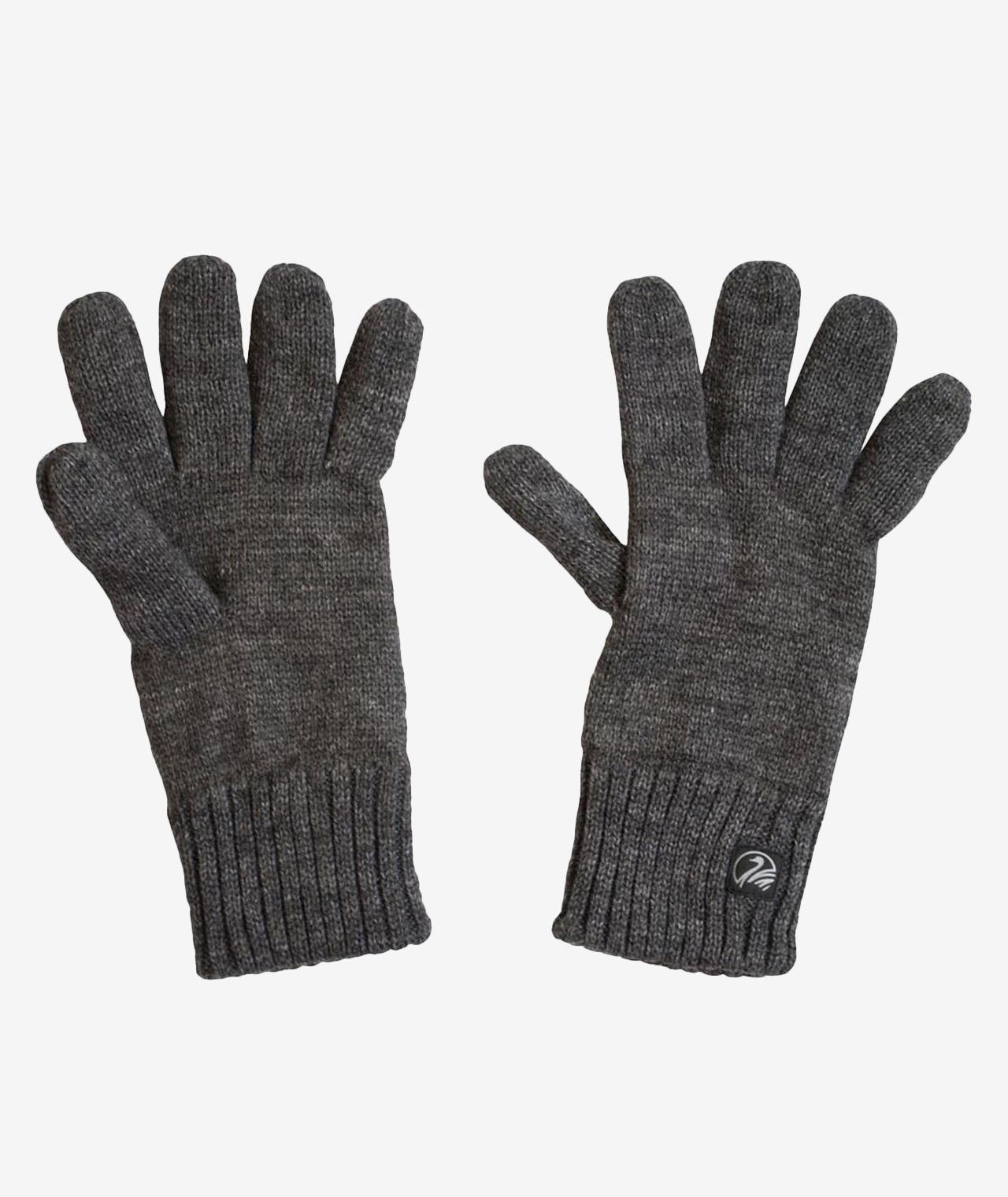 Swanndri Wool Glove with Fleece Lining in Charcoal Marle