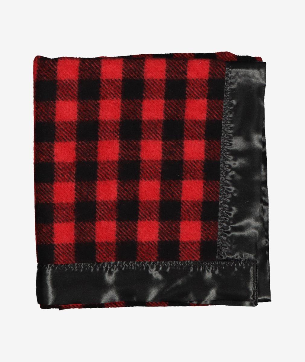 Swanndri Baby Buggy Wool Blanket in Red/Black Check