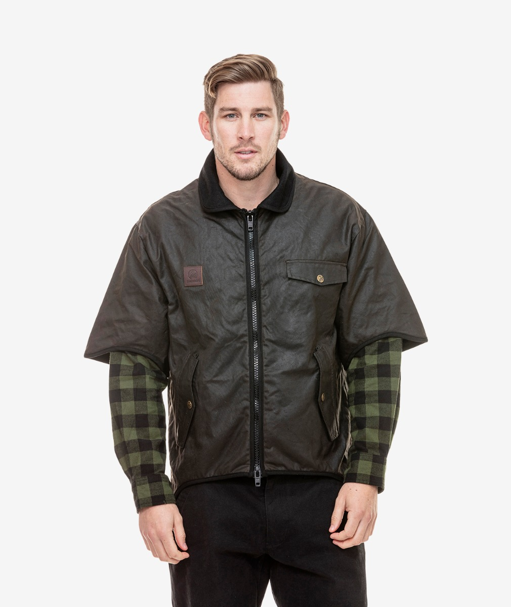 Swanndri Men's 3/4 Sleeve Oilskin Jacket