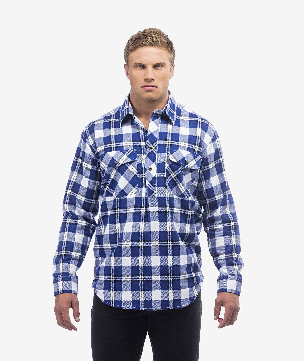 Swanndri Men's Egmont Long Sleeve Cotton Shirt Twin Pack