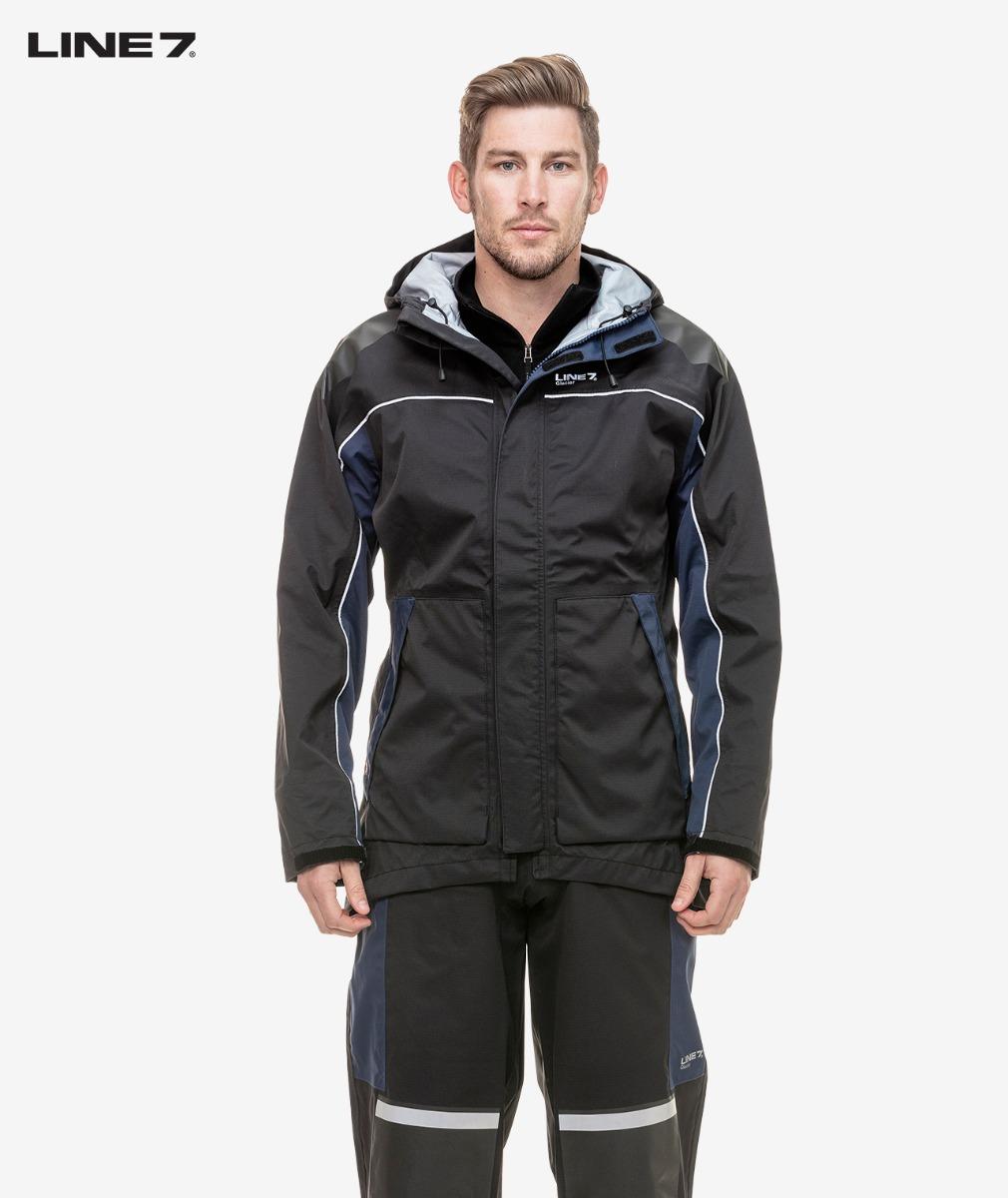 Line 7 Men's Glacier Waterproof Jacket in Black