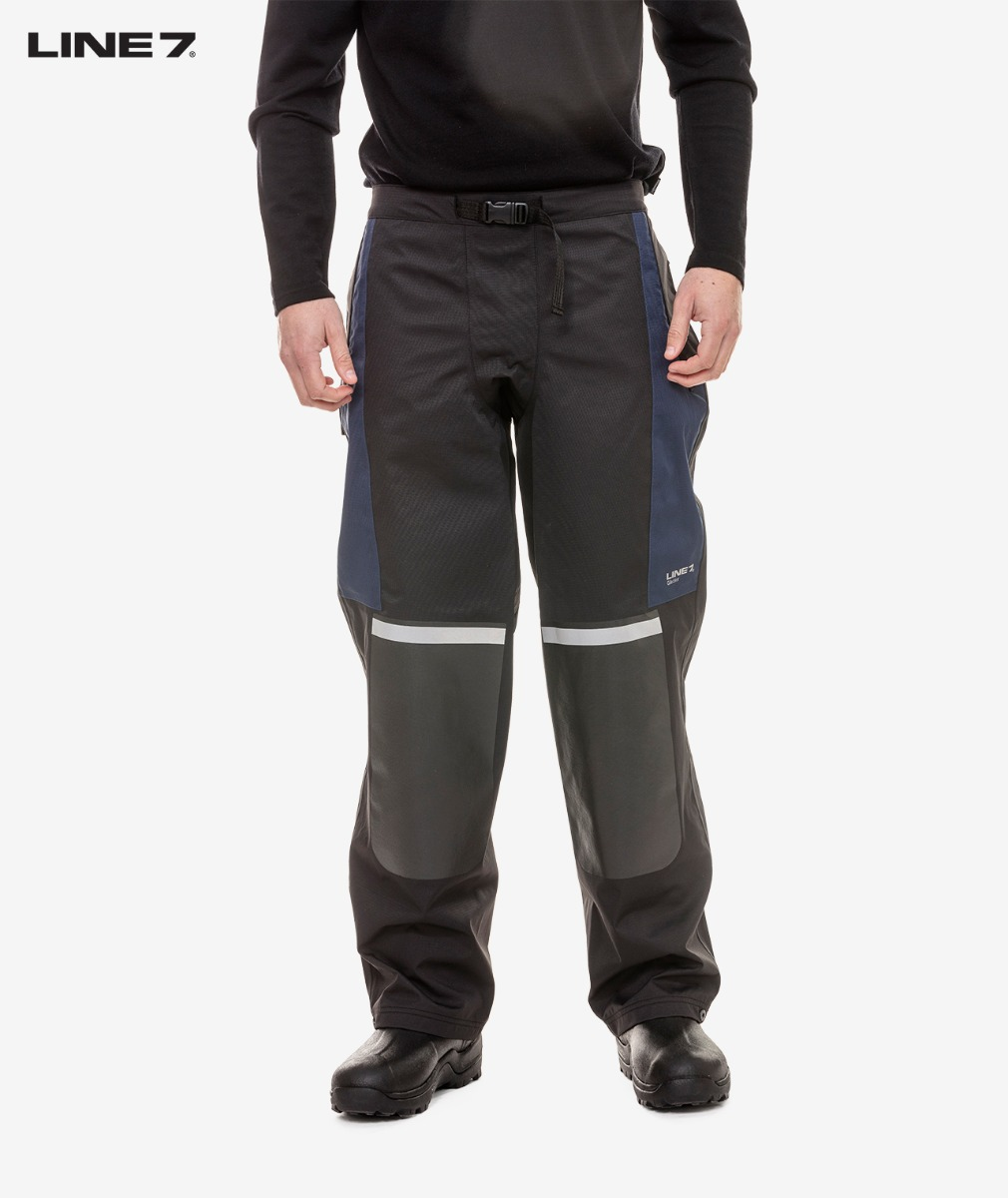 Line 7 Men's Glacier Waterproof Over Trouser in Black
