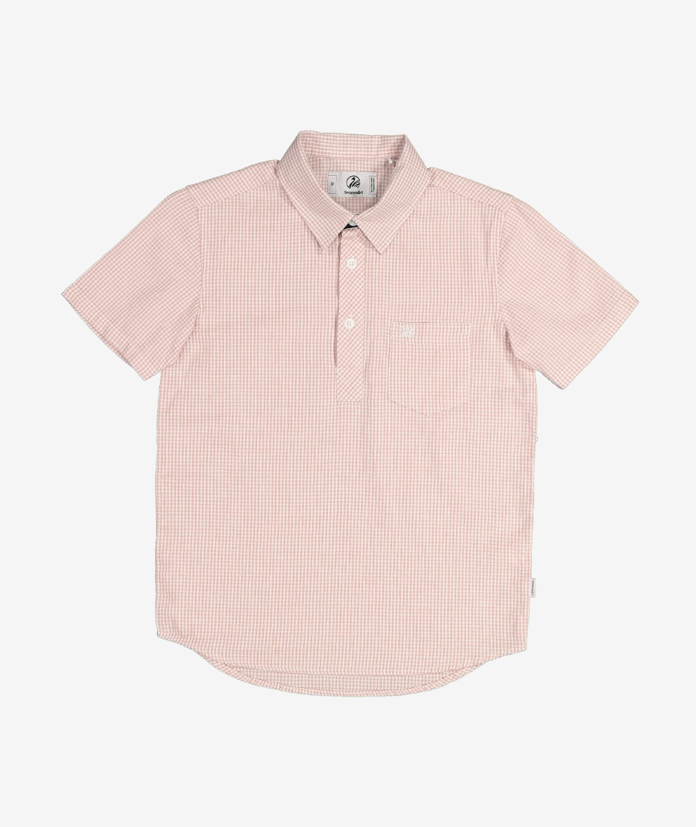 Swanndri Kid's Dragon Creek Cotton Shirt in Pink/White Gingham