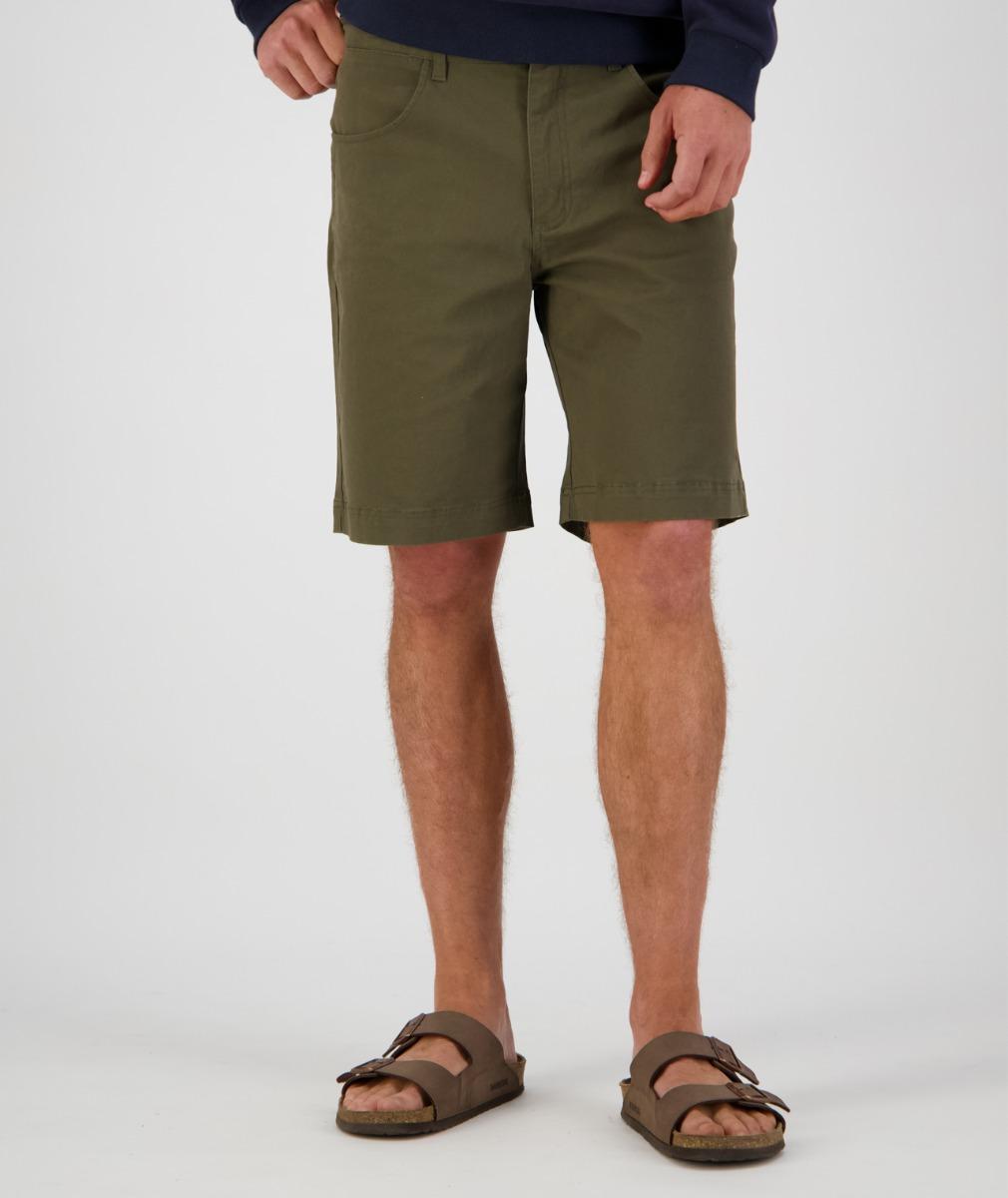 Swanndri Men's Collingwood Stretch Shorts in Dark Khaki