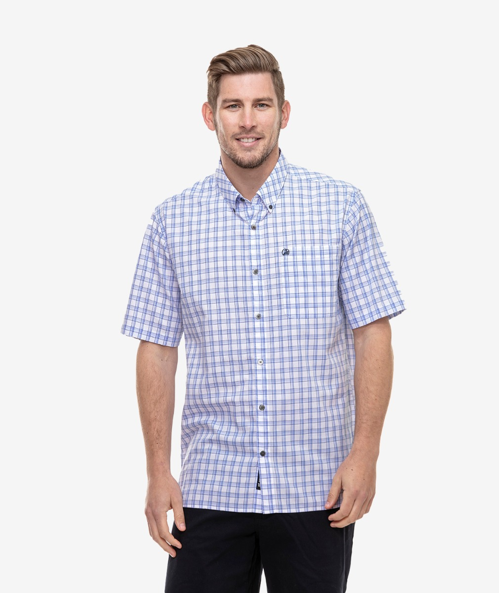 Swanndri Men's Evanston Cotton Shirt Sleeve Shirt