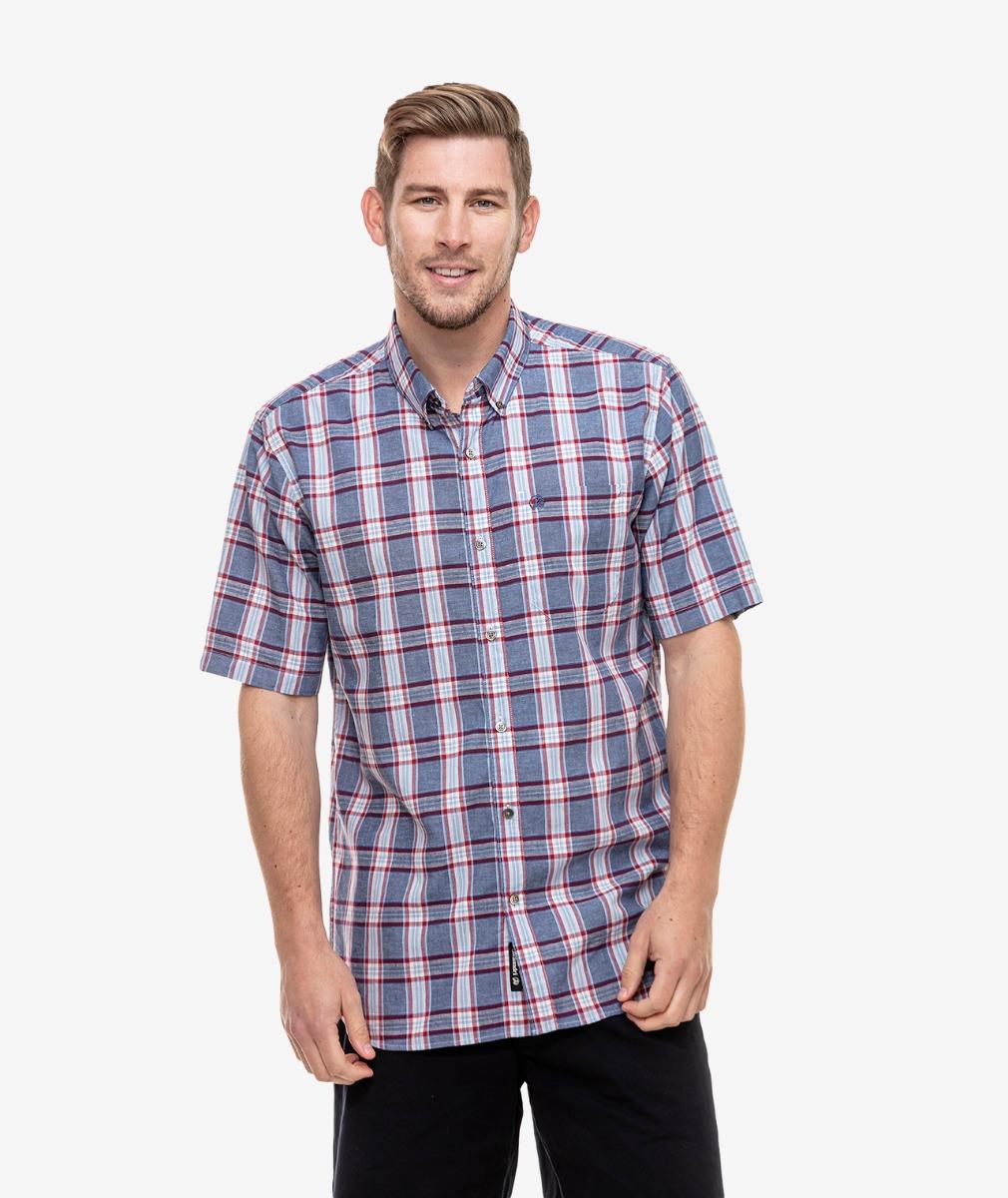 Swanndri Men's Mountain View Cotton Linen Blend Shirt