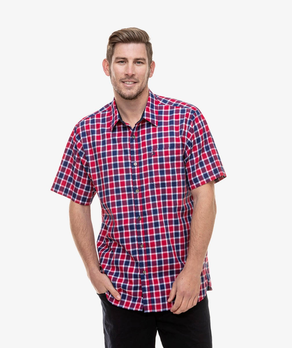 Swanndri Men's Grand Rapids Cotton Short Sleeve Shirt