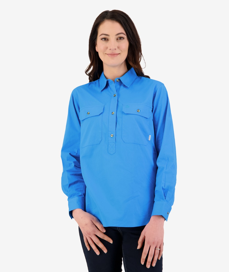Swanndri Women's Roma Long Sleeve Shirt in Marine