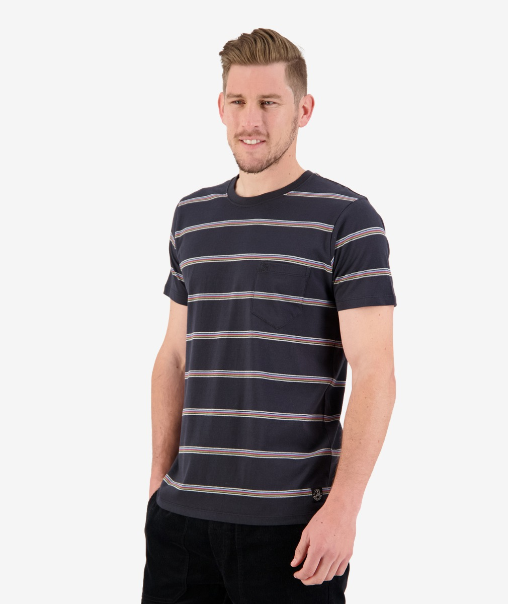 Swanndri Men's Seal Beach Stripe Tee