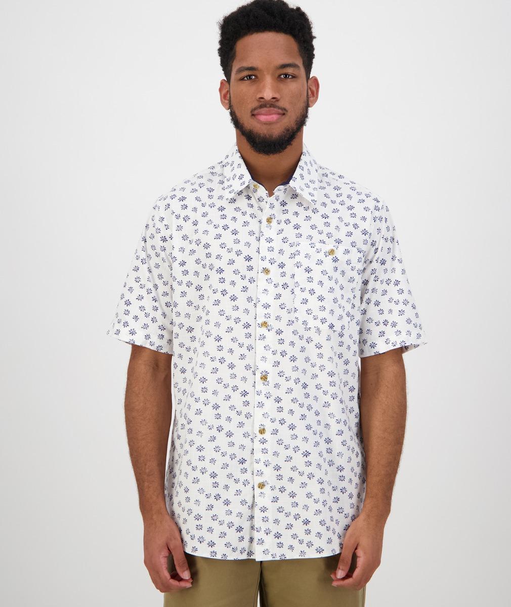 Swanndri Men's Belfast Short Sleeve Shirt in White