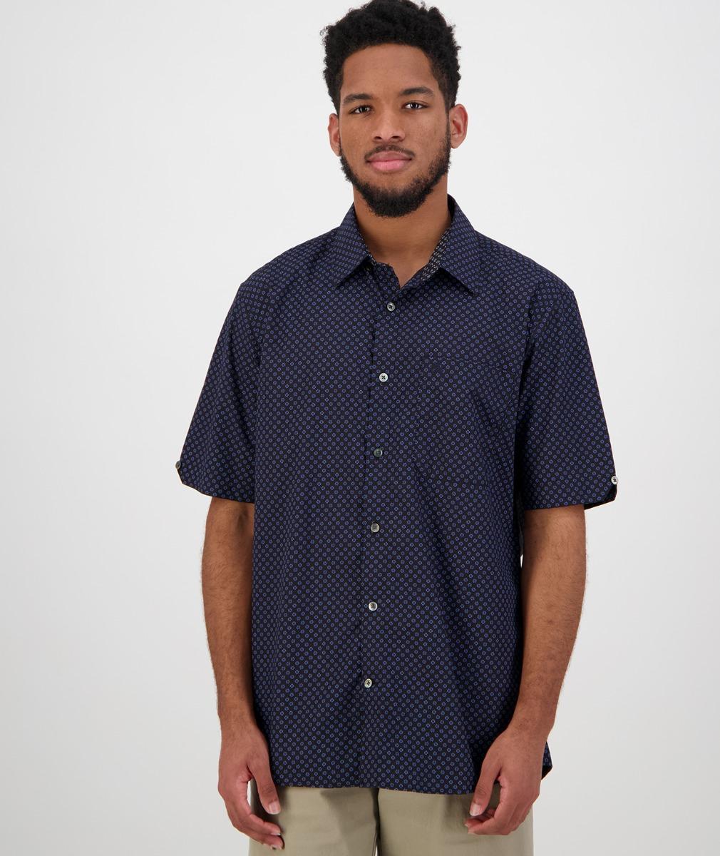 Swanndri Men's Orleans Short Sleeve Shirt in Blue