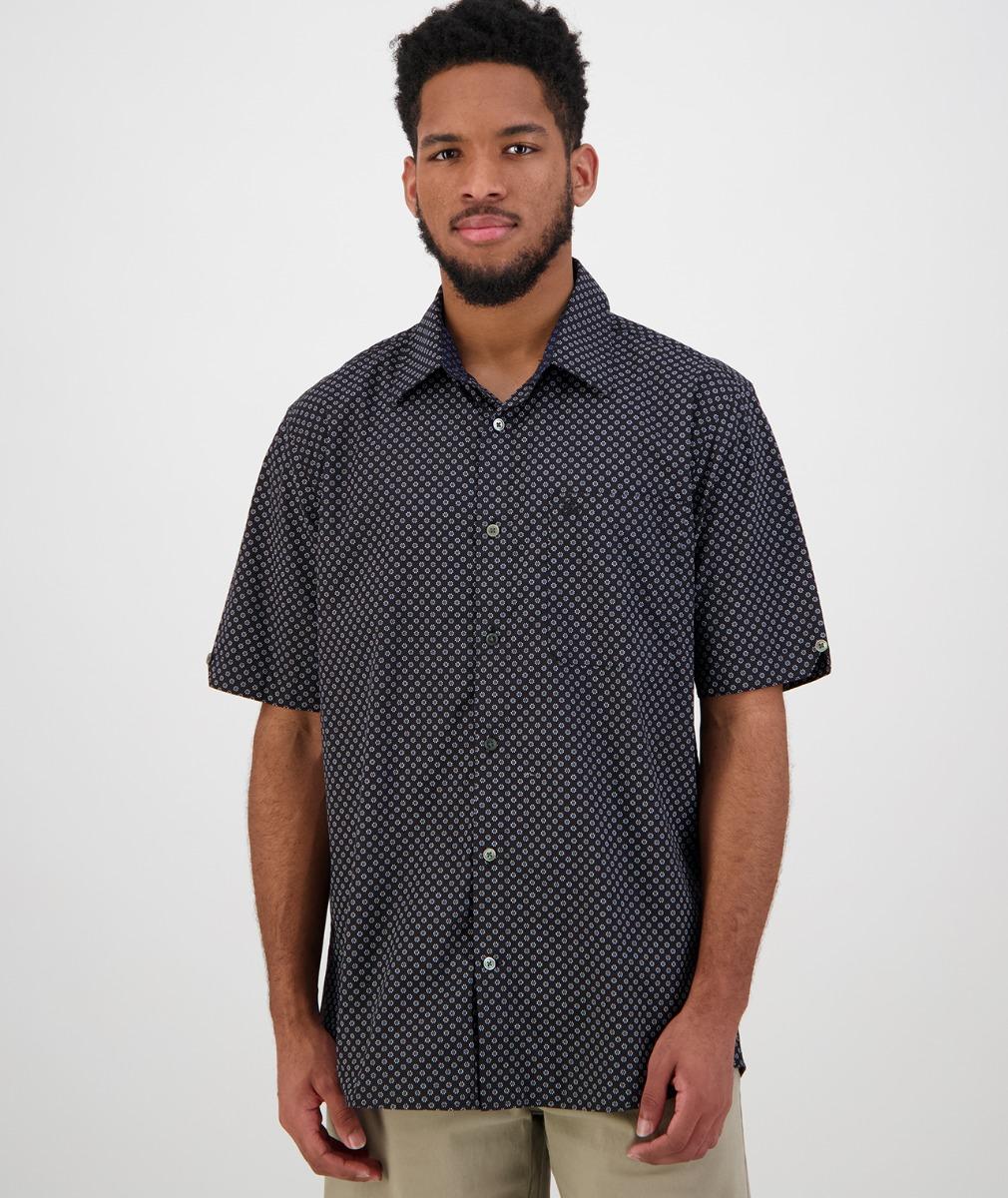 Swanndri Men's Orleans Short Sleeve Shirt in White