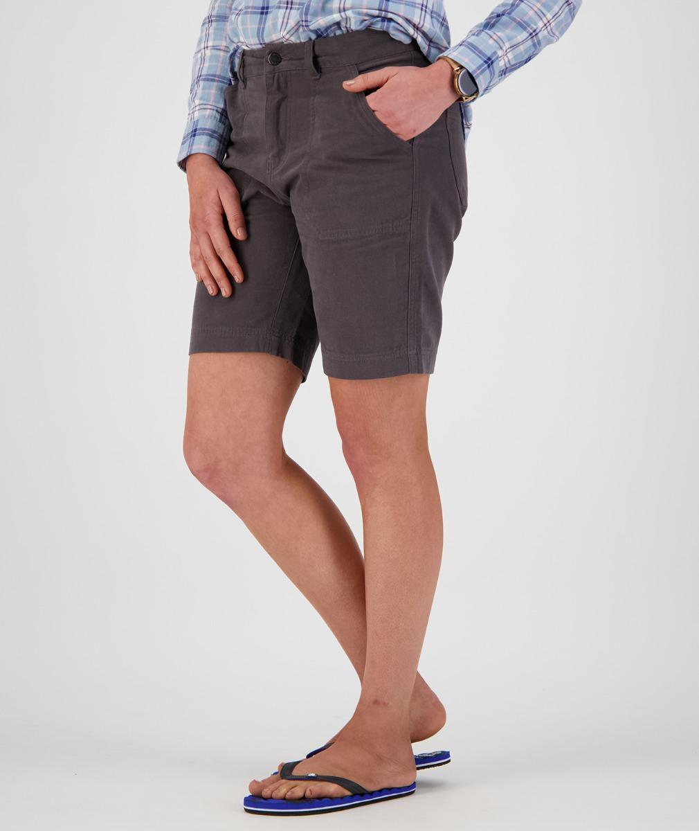 Swanndri Women's Monterey Work Shorts in Dark Grey