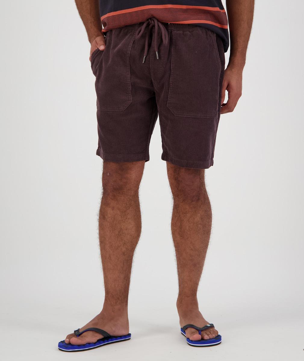 Swanndri Men's Long Bay V2 Cord Shorts in Brown
