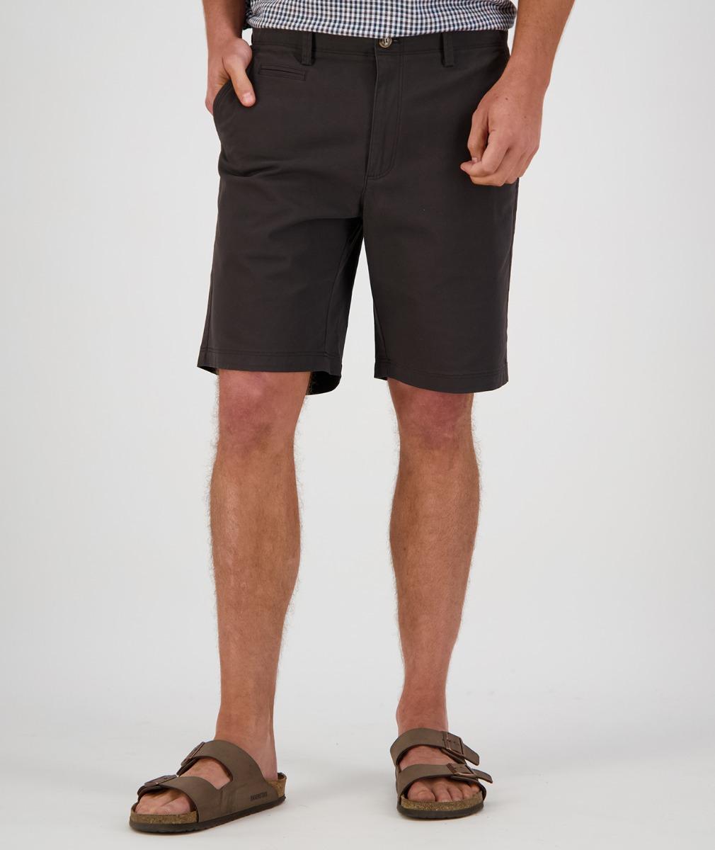 Swanndri Men's Mission Bay Chino Shorts in Black