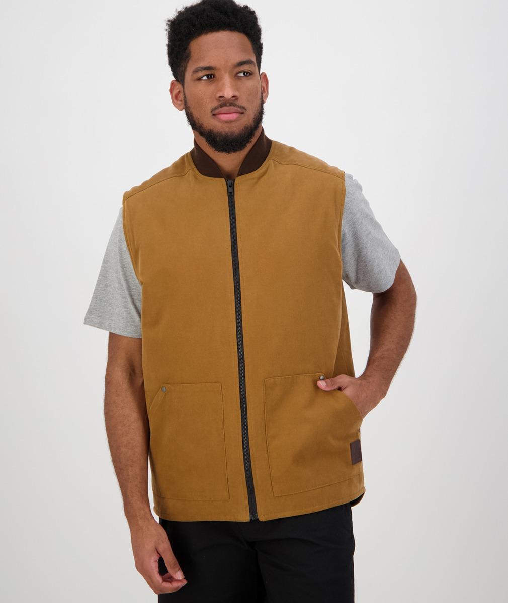 Swanndri Men's Nine Mile Canvas Vest in Brown