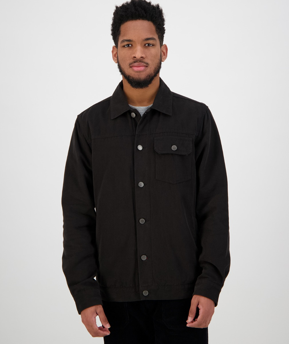 Swanndri Men's Fox River Trucker Jacket in Black