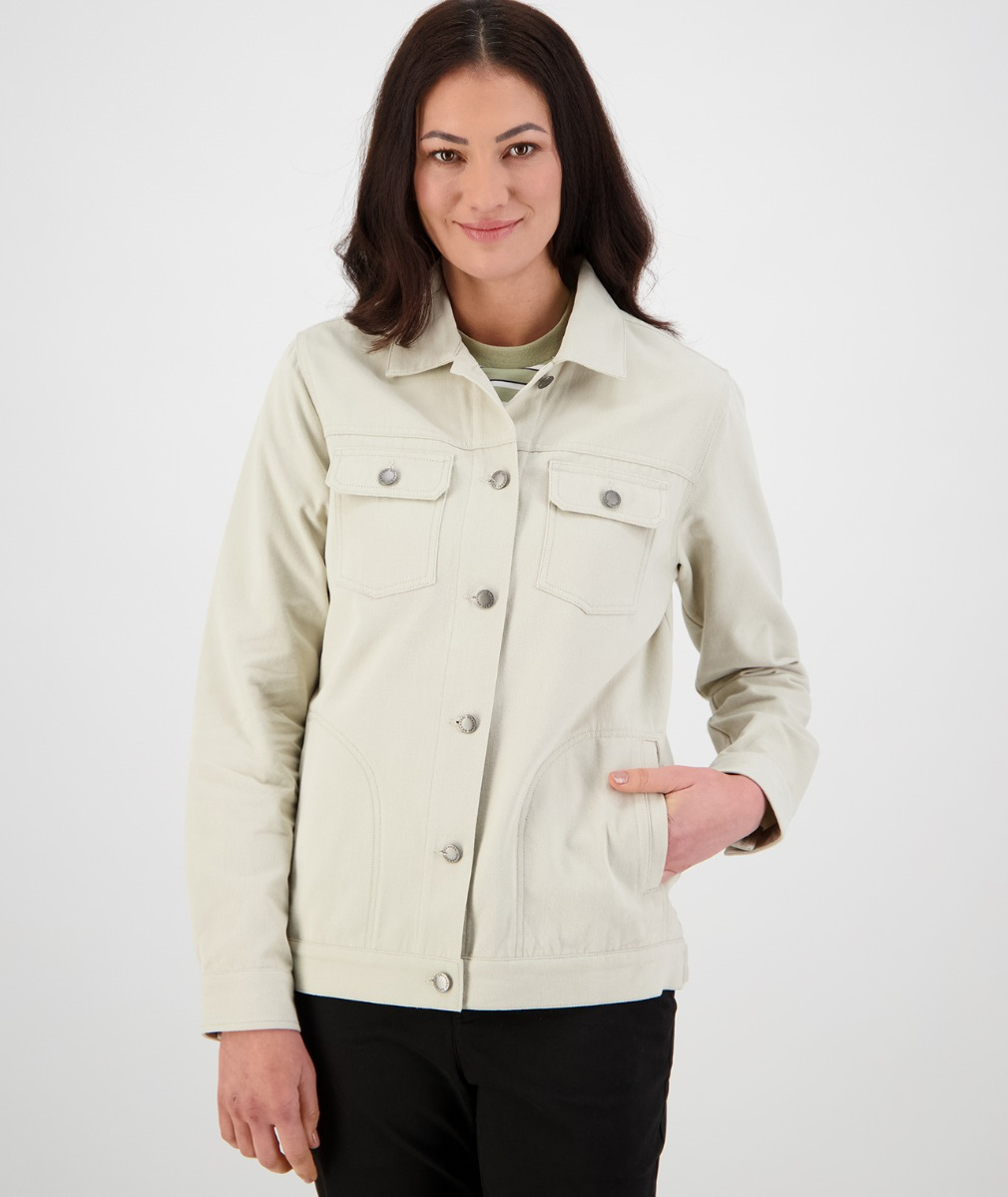 Swanndri Women's Topanga Canyon Trucker Jacket in Stone