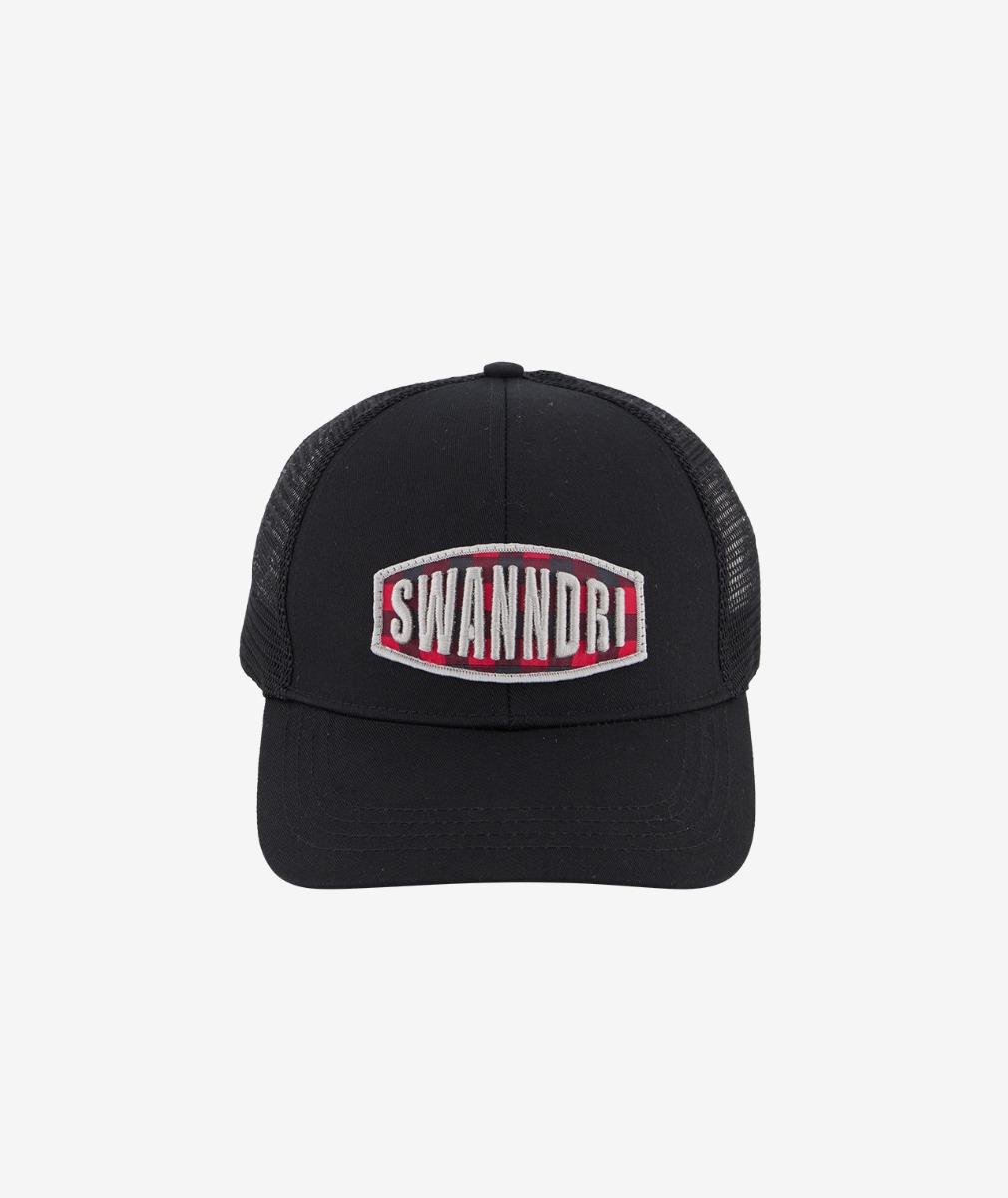 Swanndri Red Beach Trucker Cap in Black/Black