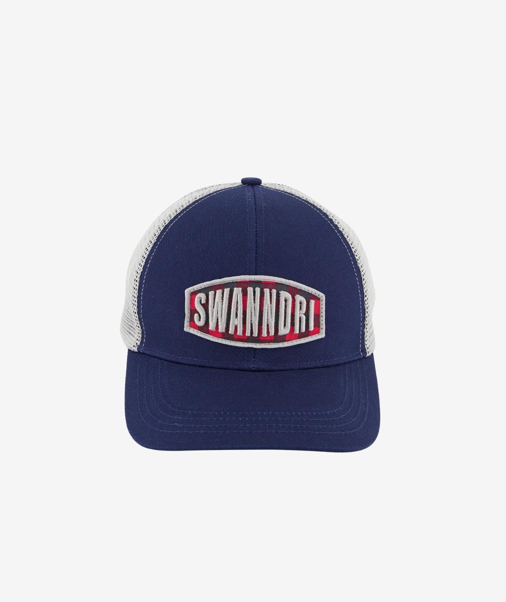 Swanndri Red Beach Trucker Cap in Steel/Grey