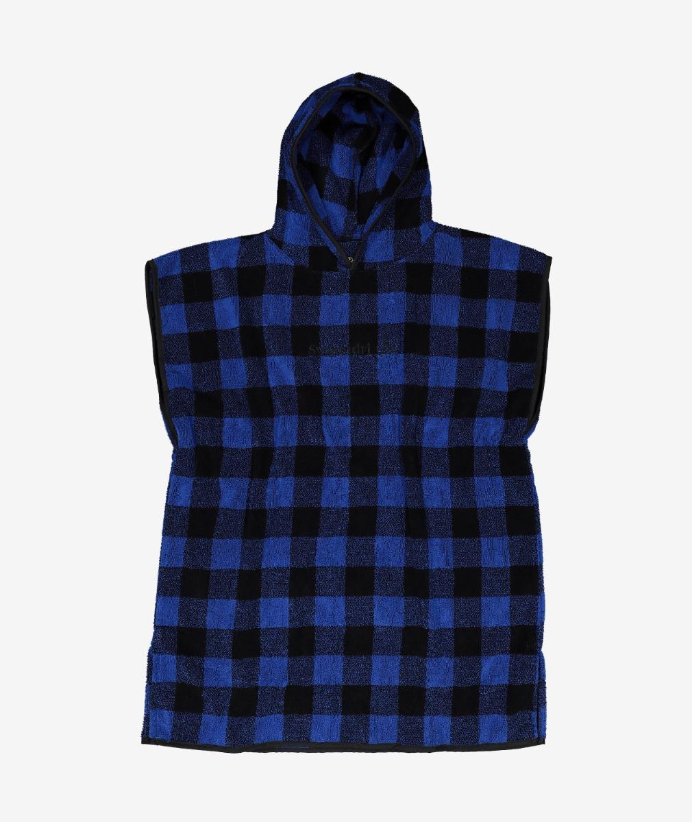 Swanndri Taylors Hooded Towel for Kids in Blue/Black
