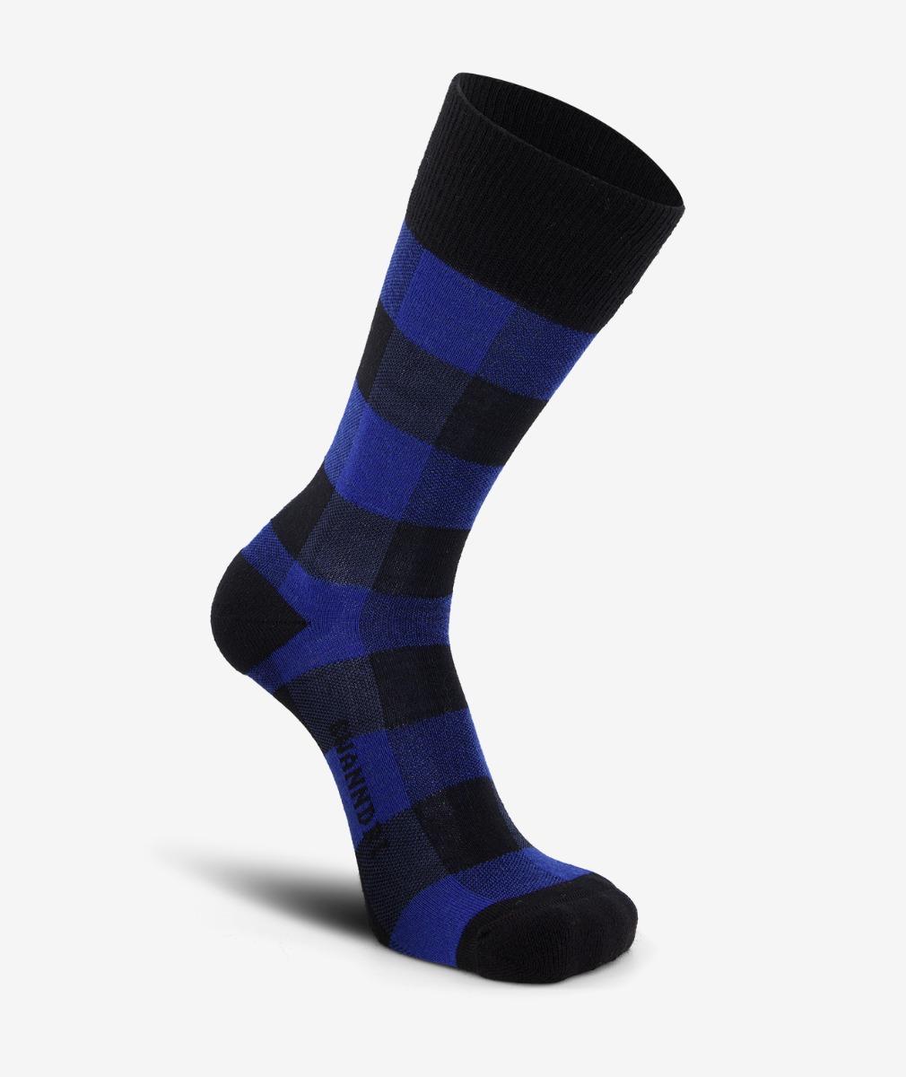 Swanndri Colombo Check Merino Sock in Blue/Black Check