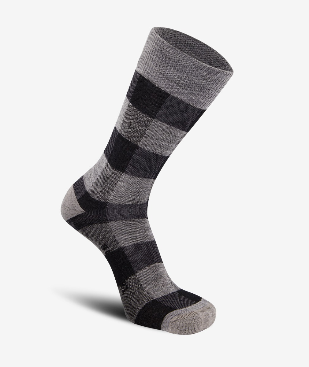 Swanndri Colombo Check Merino Sock in Grey Check