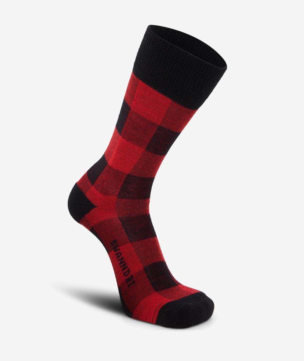 Swanndri Colombo Check Merino Sock in Red/Black Check