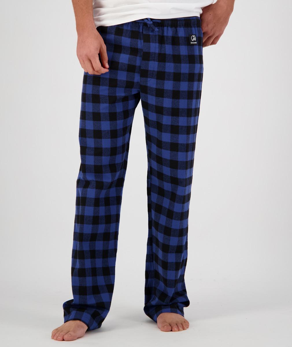 Swanndri Men's Cotton Westend Sleep Pant in Blue/Black Check