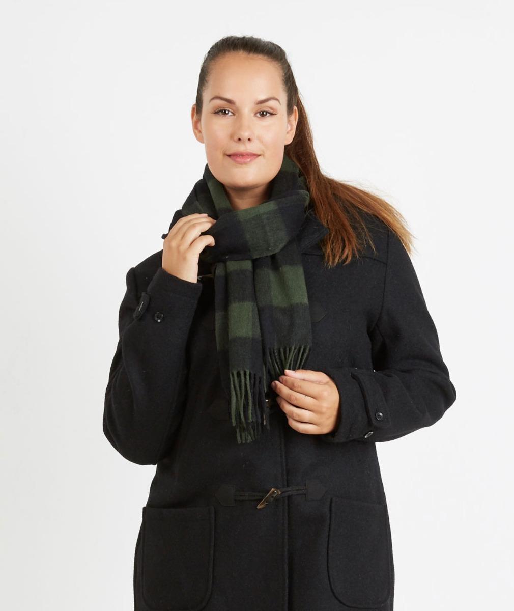 Swanndri Unisex 100% Wool Scarfie in Olive Black