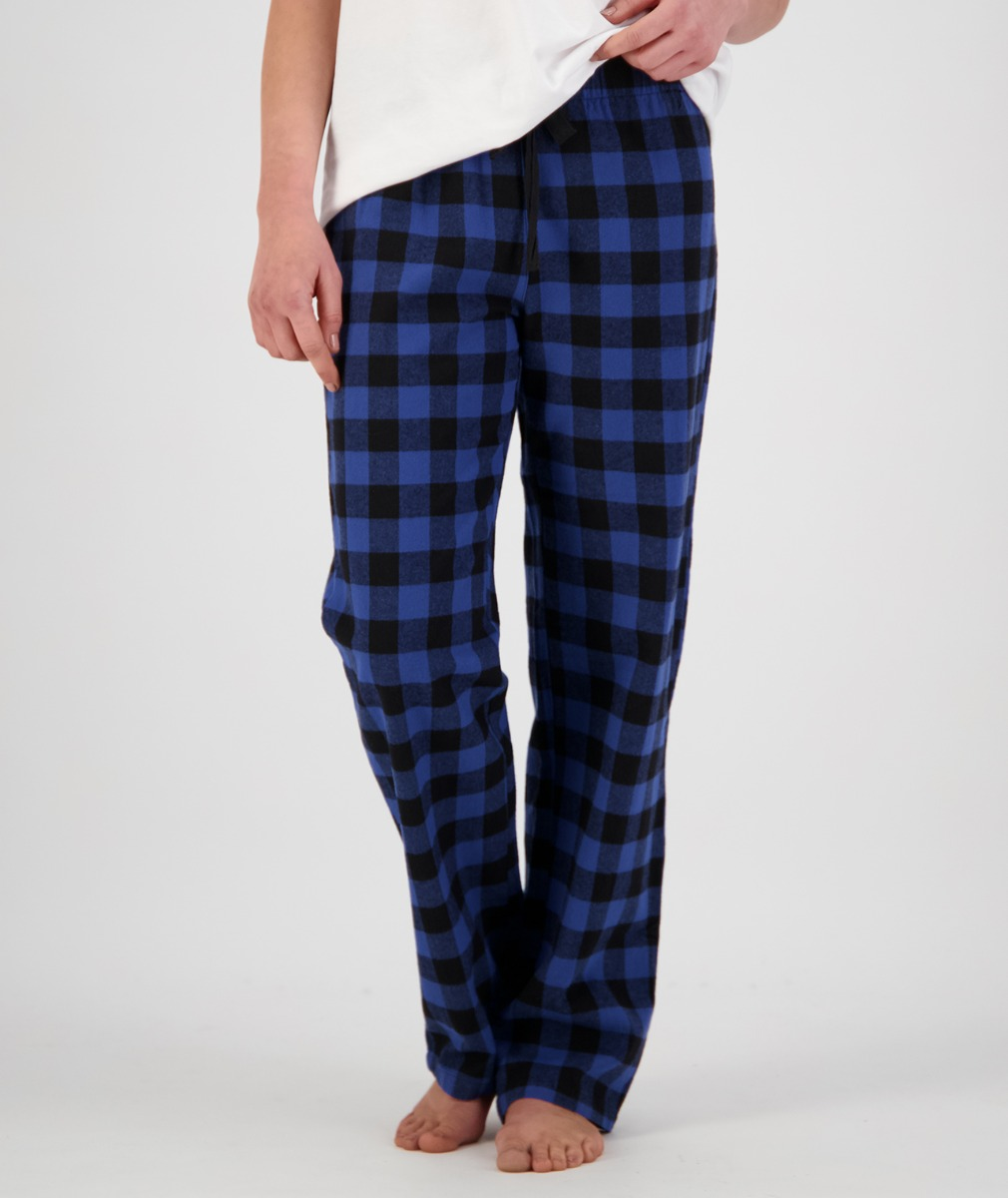 Swanndri Women's Cotton Eastend Sleep Pant in Blue/Black Check