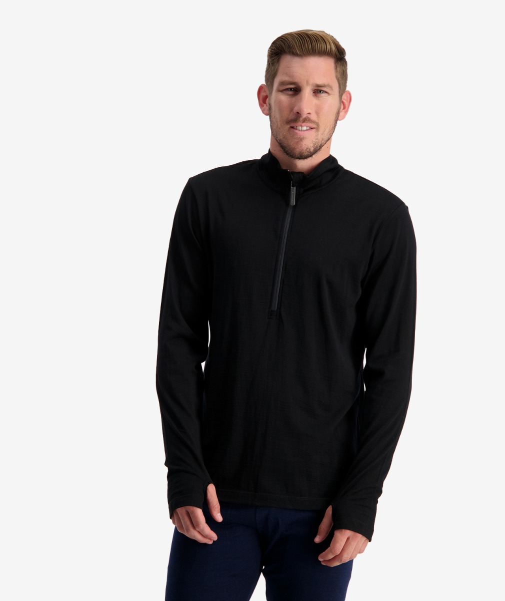 Swanndri Men's 1/2 Zip Long Sleeve Merino Pullover