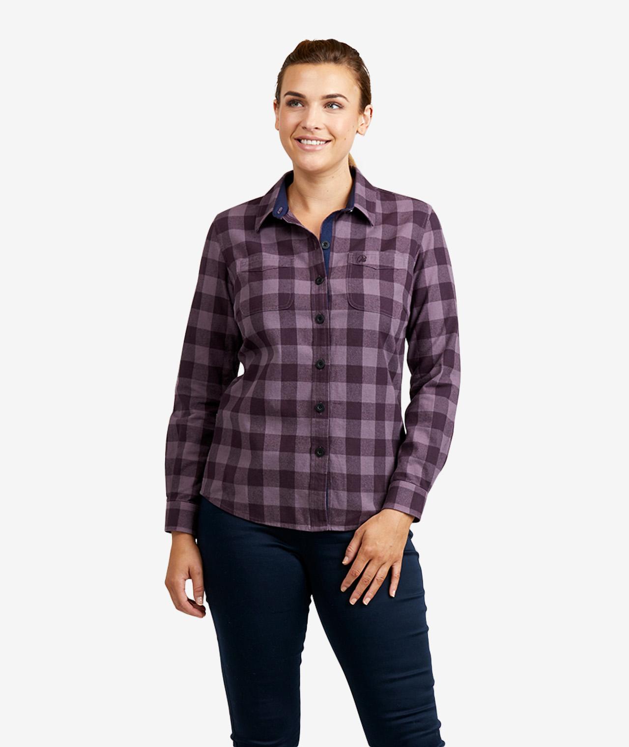 Swanndri Women's Taranaki Tailor 100% Cotton Long Sleeve Shirt