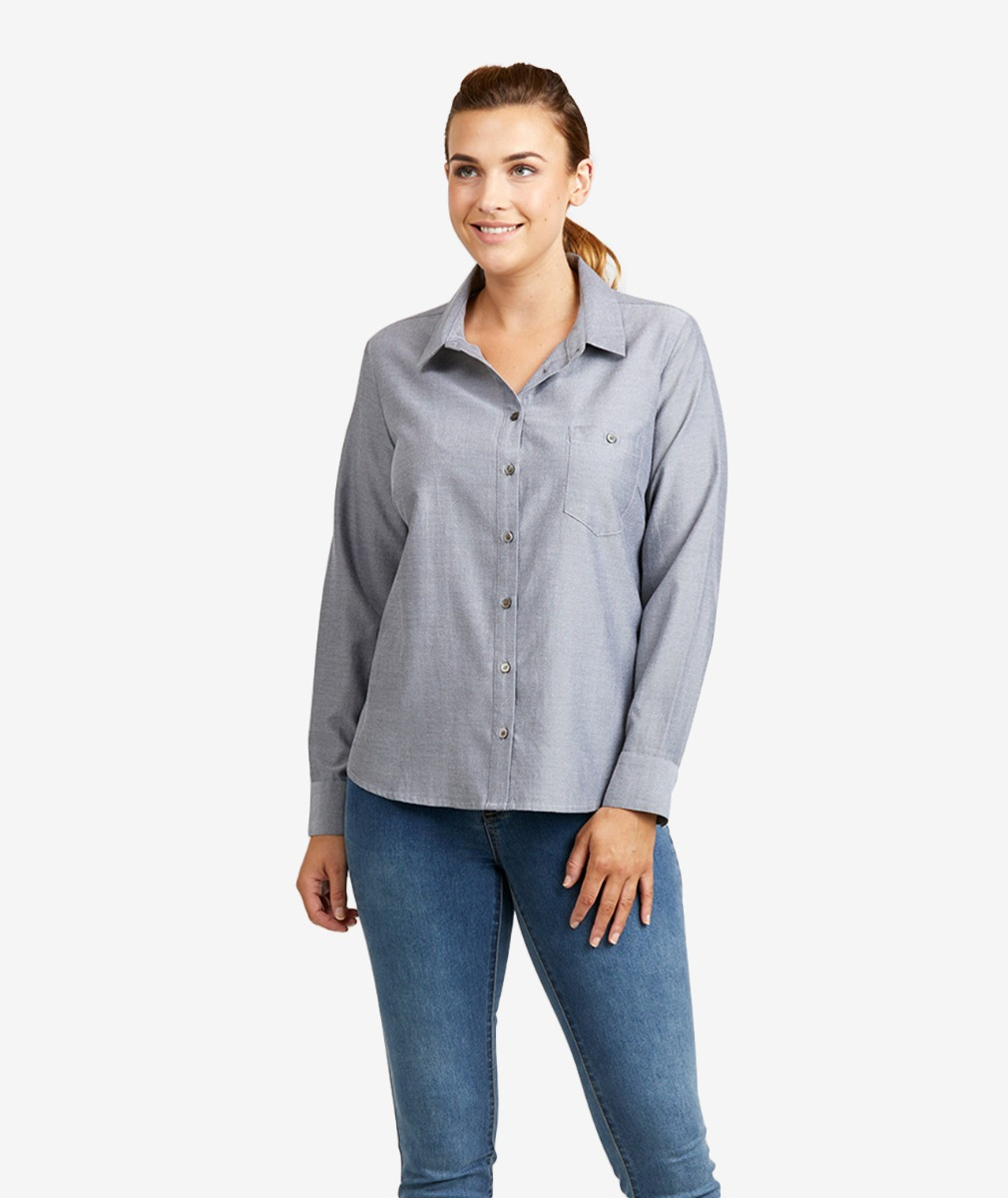 Swanndri Women's Windsor 100% Cotton Long Sleeve Shirt