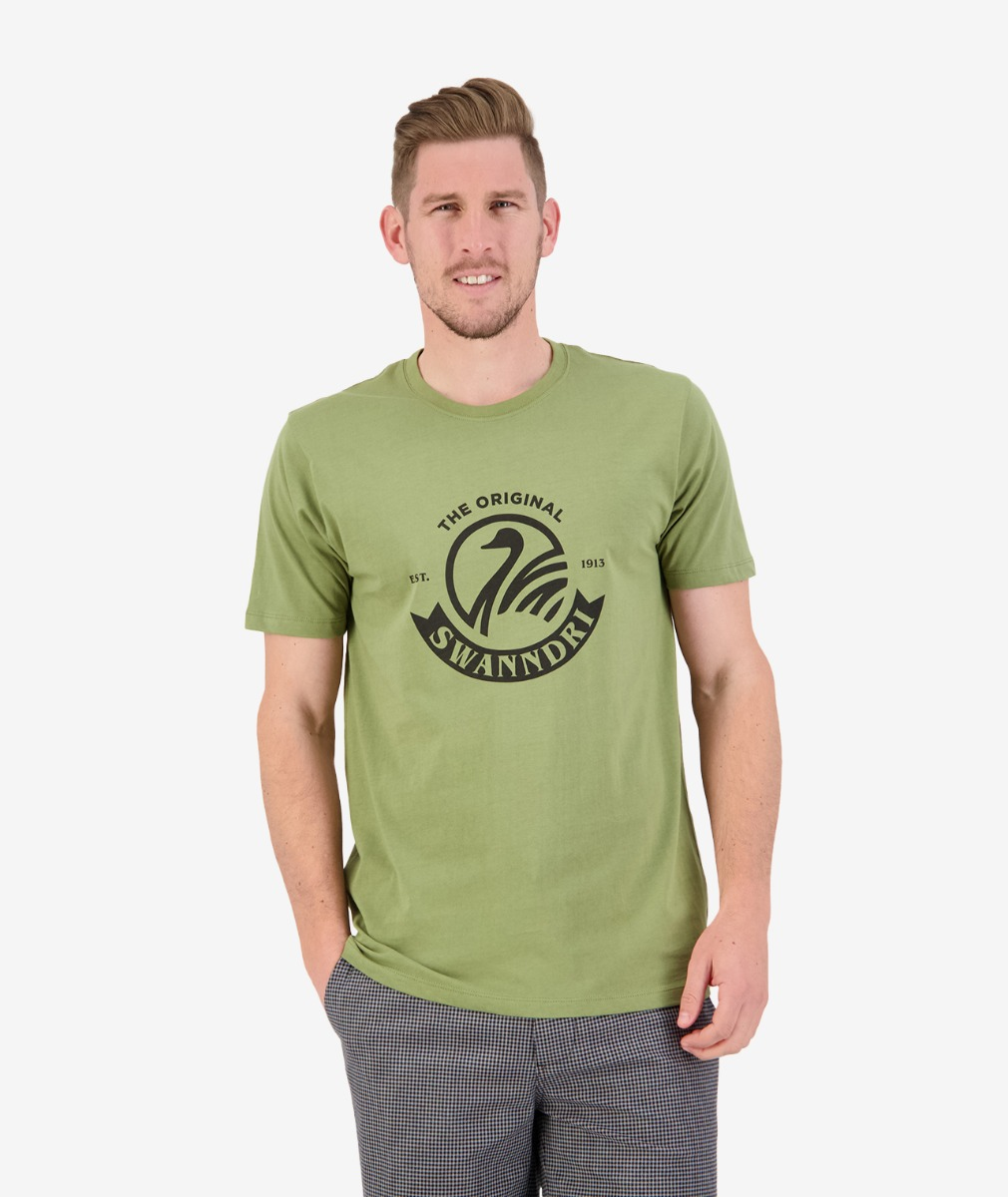 Swanndri Men's Original Print Tee in Olive/Black