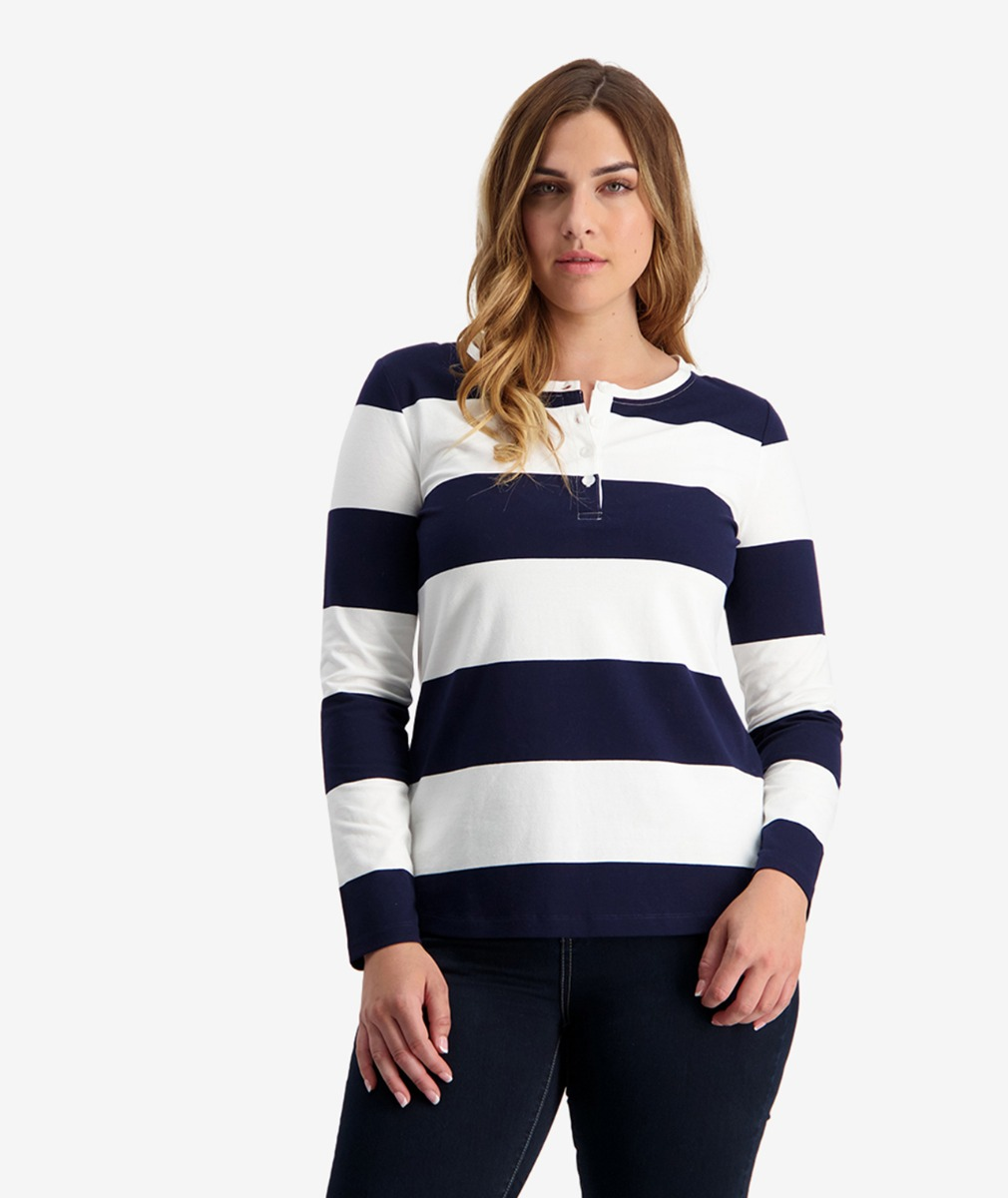 Swanndri Women's Hendon Striped Rugby Jersey