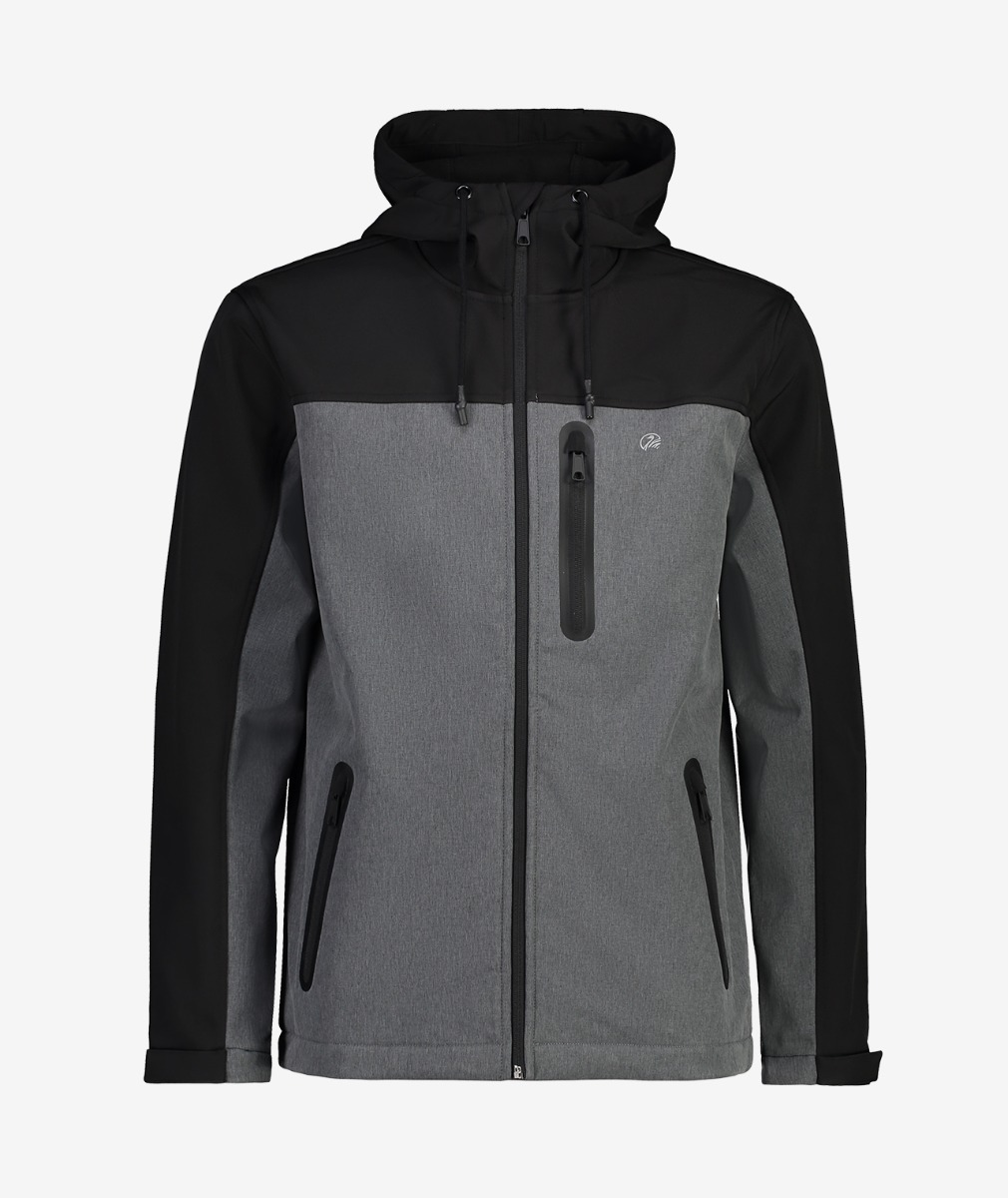 Swanndri Men's Discovery Softshell Technical Jacket in Charcoal/Black