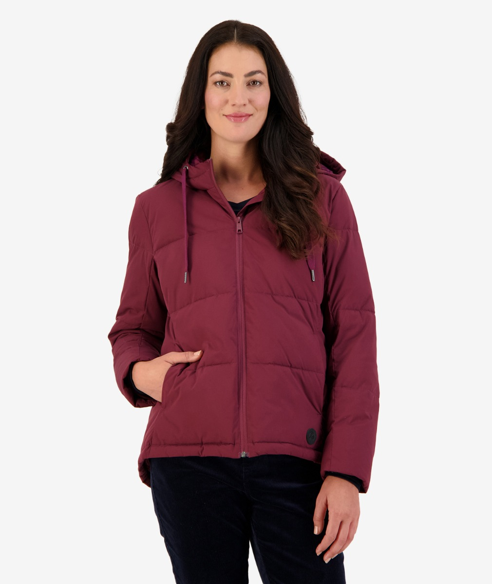 Swanndri Women's Lakeside Hooded Insulated Jacket in Plum