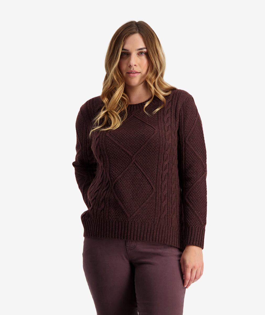 Swanndri Women's Althorp Cable Crew Sweater