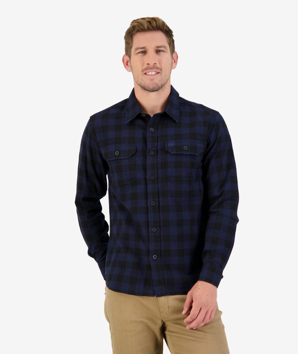 Okato v2 L/S Work Shirt in Navy/Black