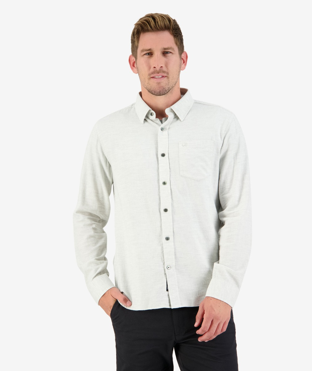 Morrisons L/S Shirt in Grey Melange