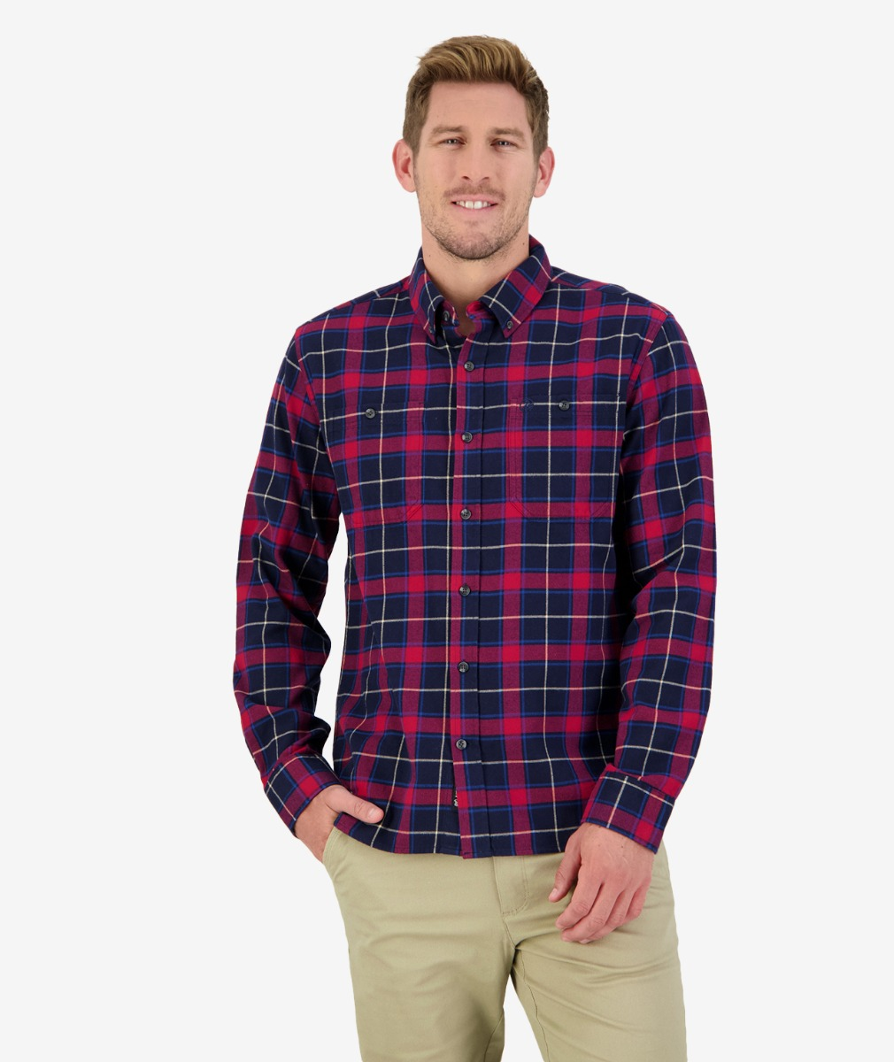 Castleford L/S Shirt in Red