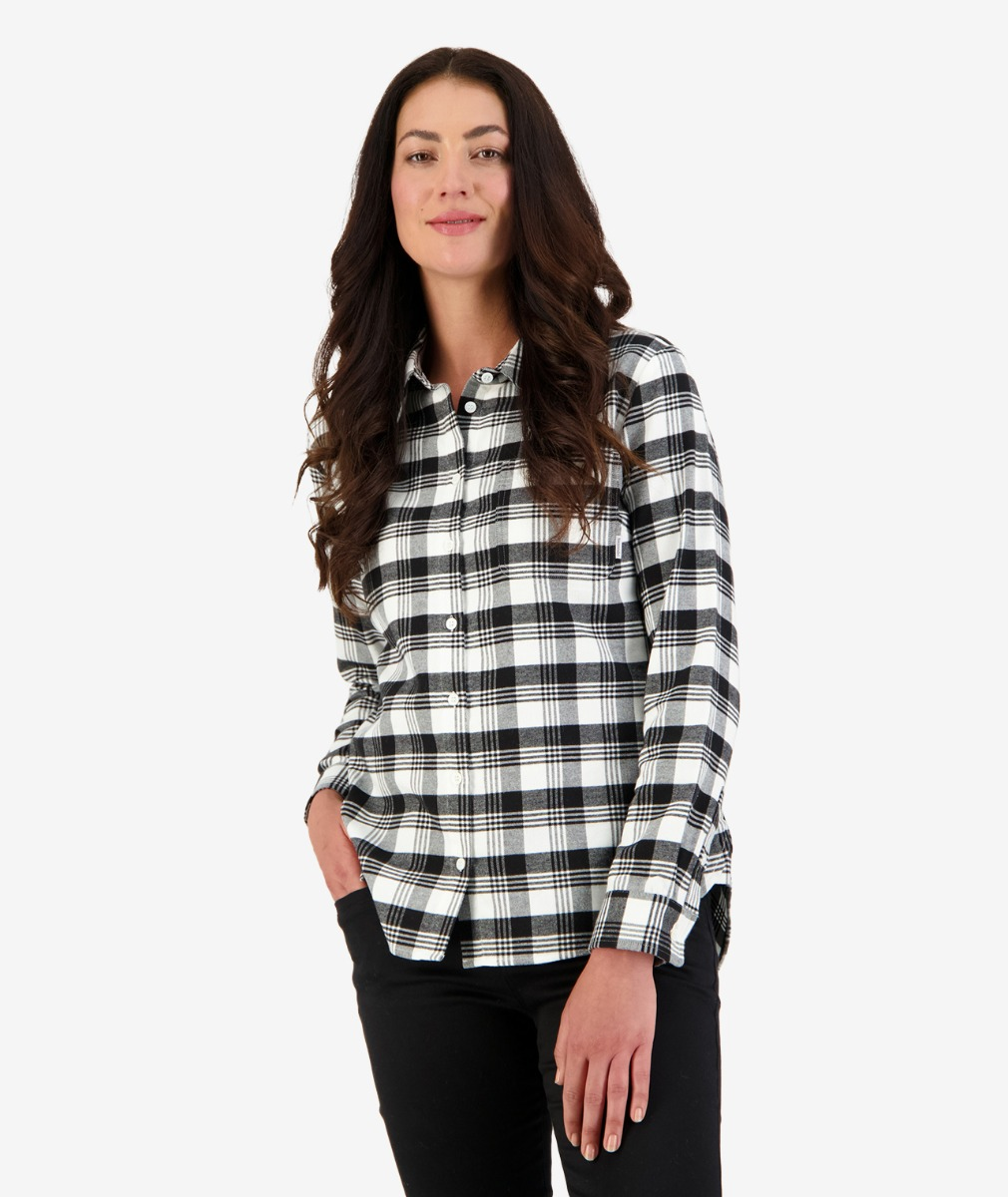 Ulverston Flannel Shirt in Black/White Check