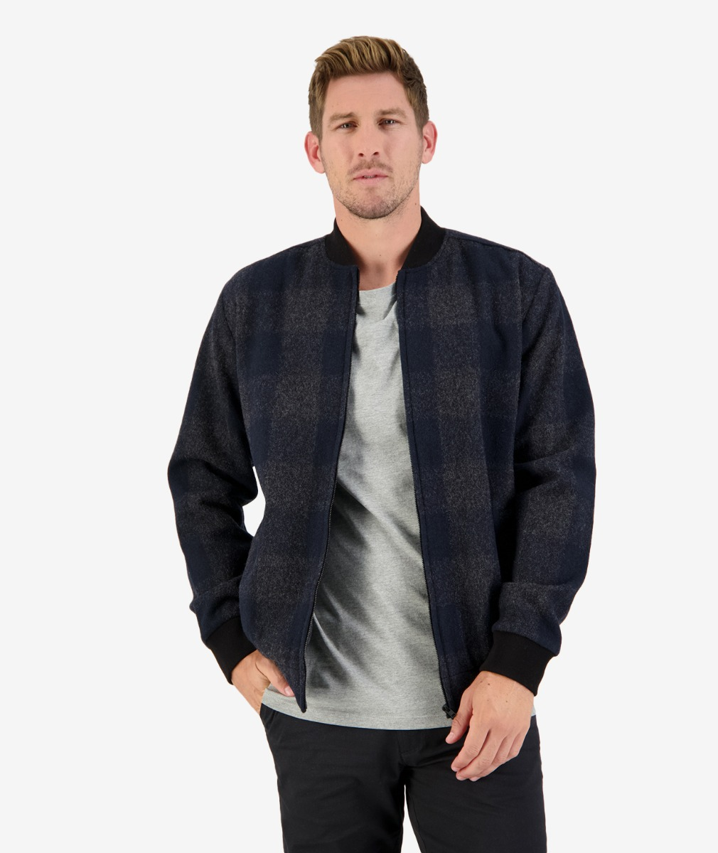 Portsmouth Bomber Jacket in Graphite Check
