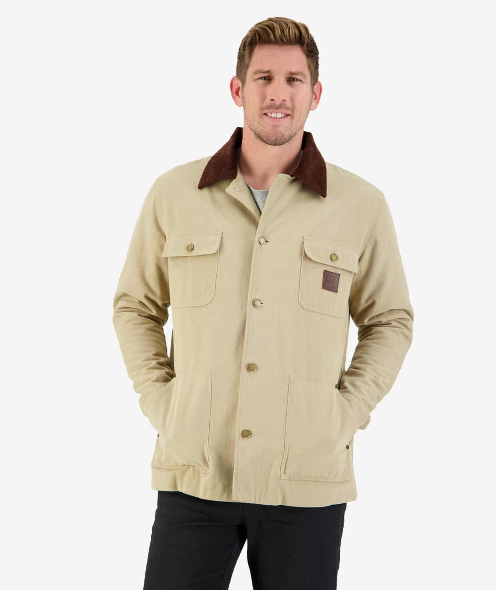 Barrytown Canvas Work Jacket in Taupe