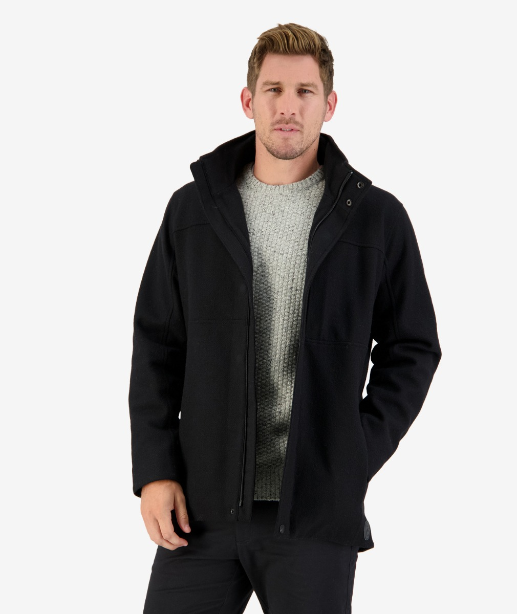 Richmond Rd Coat in Black Tweed