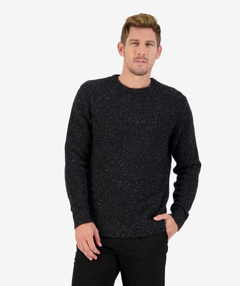 Sentry Hill Knit Crew in Black