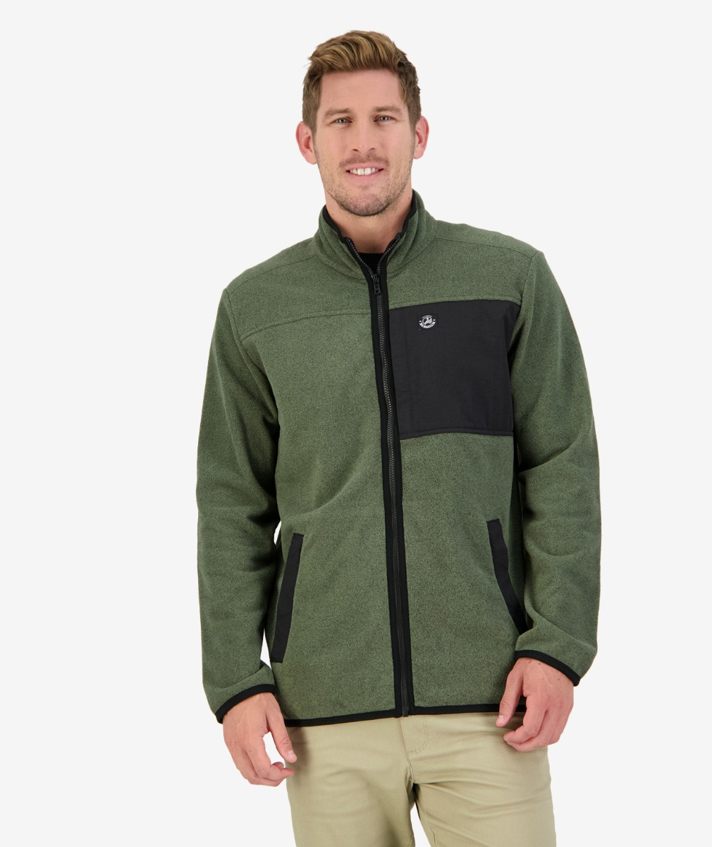 Hazelburn Fleece Jacket in Olive